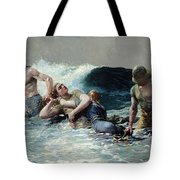 Undertow Tote Bag by Winslow Homer