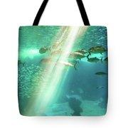 Underwater Background With Sunbeams Tote Bag