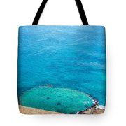 Underwater Crater In Galapagos Tote Bag