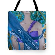 Underwater Mermaid Tote Bag