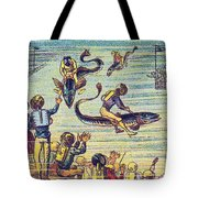 Underwater Race, 1900s French Postcard Tote Bag