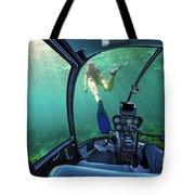 Underwater Ship In Coral Reef Tote Bag