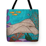 Underwater Stingray Tote Bag