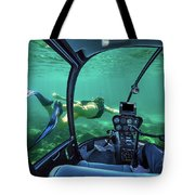 Underwater Submarine Woman Tote Bag