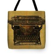 Underwood Typewriter On Text Tote Bag