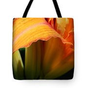 Unfolding To Orange Tote Bag