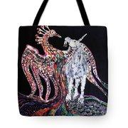 Unicorn And Phoenix Merge Paths Tote Bag