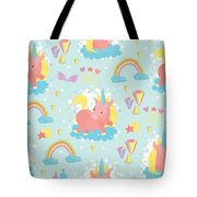 Unicorn And Rainbow Pattern Tote Bag