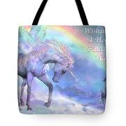 Unicorn Of The Rainbow Card Tote Bag