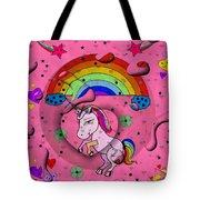 Unicorn Popart By Nico Bielow Tote Bag