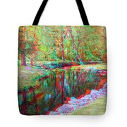 Unicorn Stream - Use Red-cyan 3d Glasses Tote Bag