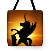 Winged Unicorn Sentinel  Tote Bag