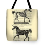 Unicorns Anatomy Tote Bag