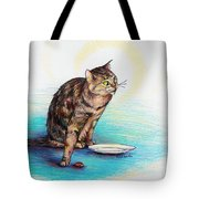 Uninvited Dinner Guest Tote Bag