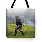 Union Cavalryman On Foot Tote Bag