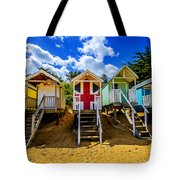 Union Jack Beach Hut 2 Tote Bag