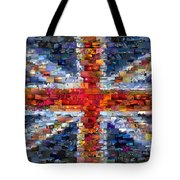 Union Jack Flag Mosaic Tote Bag