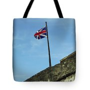 Union Jack Over The Castillo Tote Bag