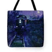 Union Pacific At Night Tote Bag