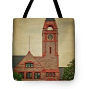 Union Pacific Railroad Depot Cheyenne Wyoming 01 Textured Tote Bag