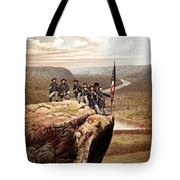 Union Soldiers On Lookout Mountain Tote Bag