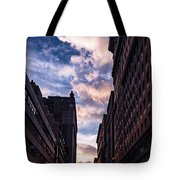 Dusk Over A Union Square Coffee Tote Bag