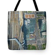 Union Station Train Yard Toronto From The Cn Tower Tote Bag