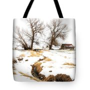 Uniontown Snow Scene Tote Bag