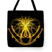 Unique Abstract Golden Pendant Tote Bag
