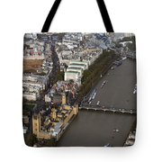 Unique And Rare Aerial View Of Iconic City Of London Tote Bag