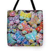 Unique Colorful Honey Cookies , Butterfly Shaped  Tote Bag