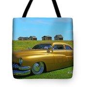 Unique Gold Street Rod Tote Bag