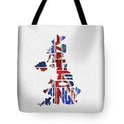 United Kingdom Typographic Kingdom Tote Bag