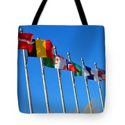 United We Stand Flags Art Tote Bag