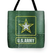 United States Army Logo On Green Steel Tank Tote Bag