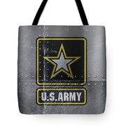 United States Army Logo On Steel Tote Bag