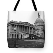 United States Capitol Building 2 Bw Tote Bag