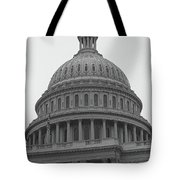 United States Capitol Building 3 Bw Tote Bag