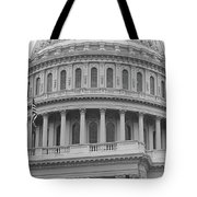 United States Capitol Building Bw Tote Bag