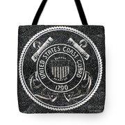 United States Coast Guard Emblem Polished Granite Tote Bag