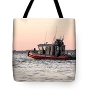 United States Coast Guard Heading Out Tote Bag