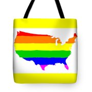 United States Gay Pride Flag Tote Bag