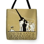 United States Navy Recruitment Poster From 1918 Tote Bag