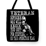 United States Proud Veteran American Tote Bag