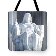 United States Supreme Court, The Contemplation Of Justice Statue, Washington, Dc 2 Tote Bag