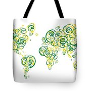 University Of Alberta Colors Swirl Map Of The World Atlas Tote Bag