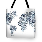 University Of British Colombia Colors Swirl Map Of The World Atl Tote Bag