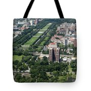 University Of Chicago Booth School Of Business And Midway Plaisance Park Aerial Photo Tote Bag