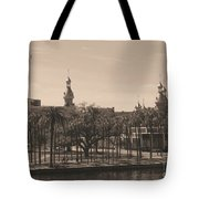 University Of Tampa With Old World Framing Tote Bag by Carol Groenen