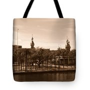 University Of Tampa With River - Sepia Tote Bag